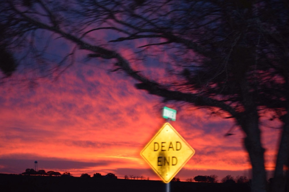 Sunsets and Dead Ends...